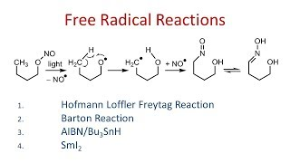 Free Radicals - Reactions and Important Reagents