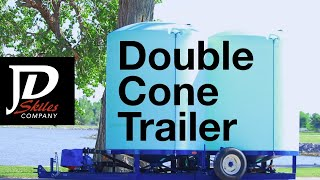 Double Cone Bottom Liquid Fertilizer Trailer
