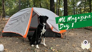 Mt. Magazine State Pąrk | Day 1 | Camping at Cove Lake Alone