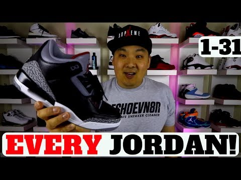 COMPLETE GUIDE TO EVERY AIR JORDAN SNEAKER 1-31 EXPLAINED