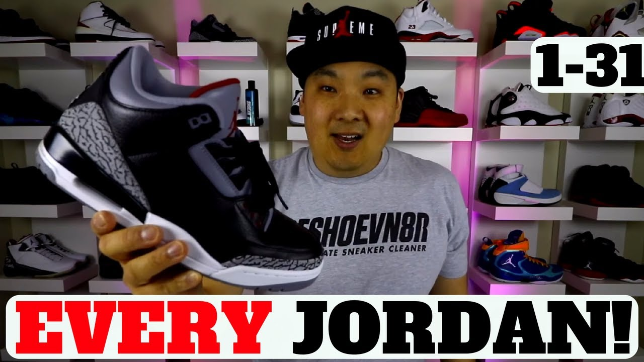 34eb984d4d8 EVERY AIR JORDAN SNEAKER 1-31 EXPLAINED (COMPLETE GUIDE) - YouTube