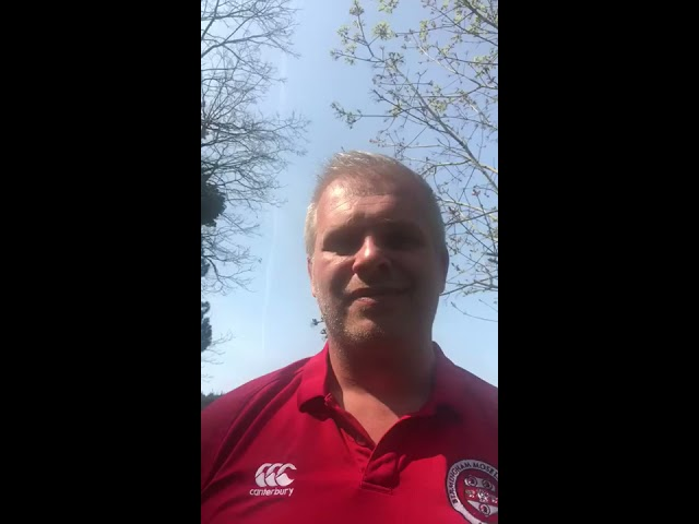 An update from Birmingham Moseley Director of Rugby Adam Balding - 10th April 2020