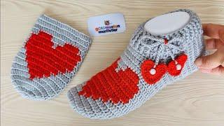 Новый дизайн вязаного крючком сердца дамской модели пинетки-носочки