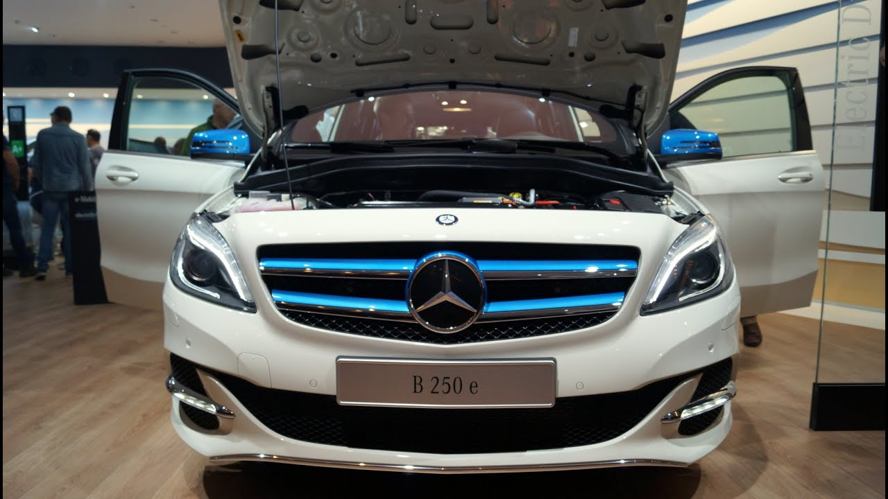 mercedes benz b 250e 2015 walkaround at the iaa 2015 in