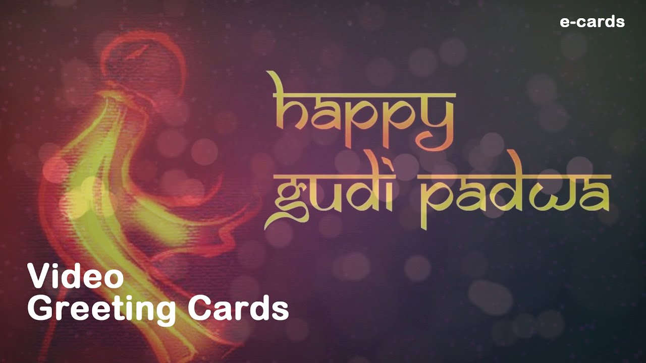 Happy Gudi Padwa Video Greeting Card Youtube