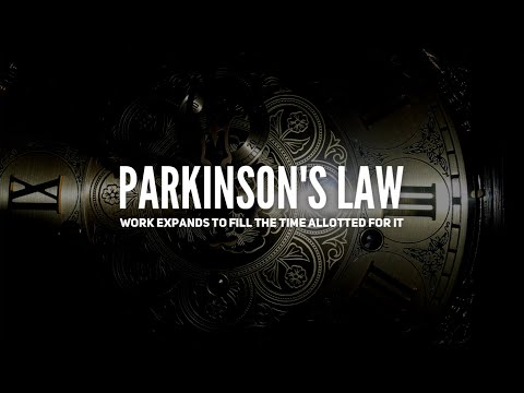 Brian Tracy - Work expands to fill the time allotted for it (Parkinson's law)