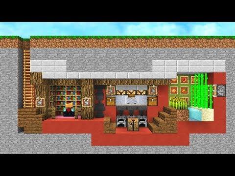 The Safest Minecraft Underground Bunker Youtube