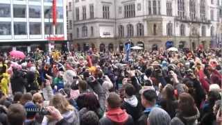 Harlem Shake Flashmob in Halle (Saale) in Germany