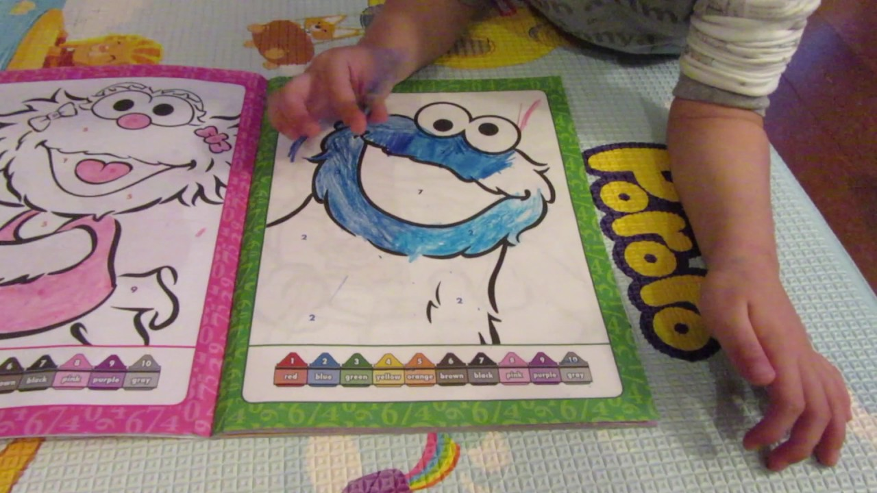 Sesame street color by number coloring book cookie for Sesame street number coloring pages