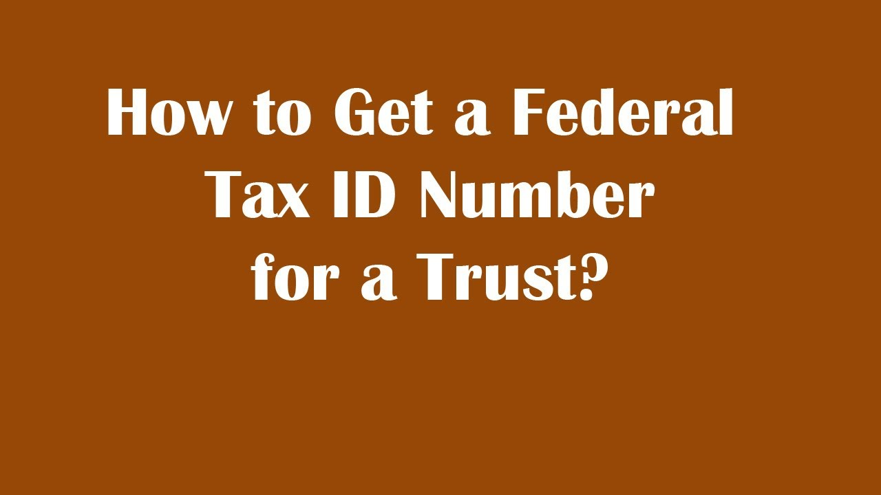 how to receive a tax id number