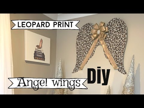 CHRISTMAS DIY DECOR LEOPARD PRINT ANGEL WINGS