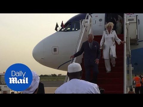 Charles and Camilla given colourful welcome in The Gambia