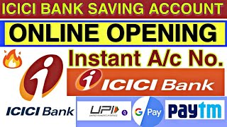 How to open icici bank saving account online in hindi || icici bank account opening online process🔥