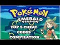 My TOP 5 Pokemon Emerald Cheat Codes // Cheat code compilation