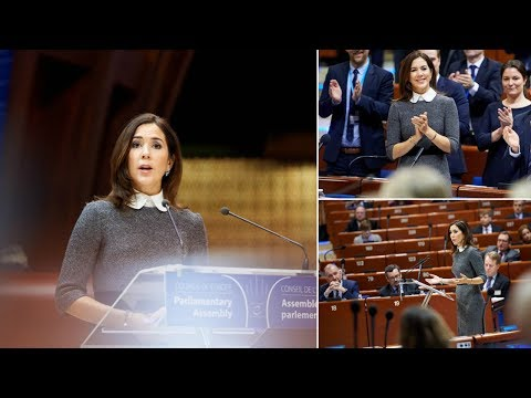 Crown Princess Mary holds speech at the European Council