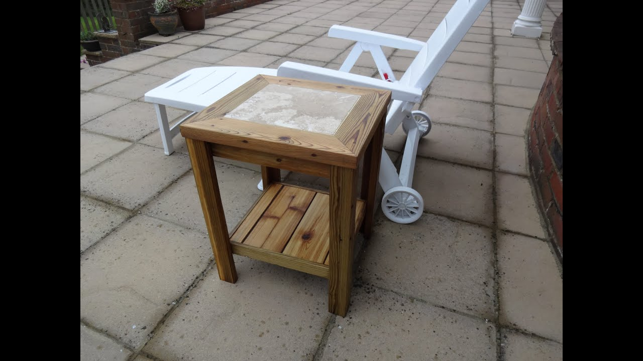 diy project outside drinks table using reclaimed wood youtube