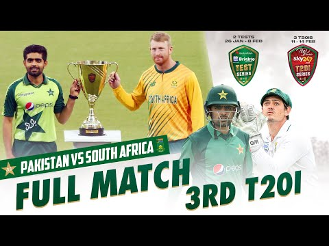 LIVE - Pakistan vs South Africa   3rd T20I 2021   PCB