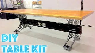 DIY Industrial Steel Trestle Table Kit Update - Announcement for new Design