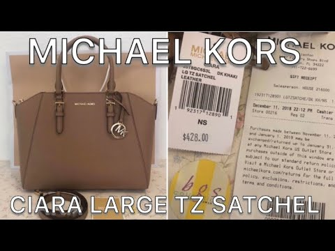 MICHAEL KORS CIARA LARGE TZ SATCHEL   STYLE NO. 35T8GC6S3L