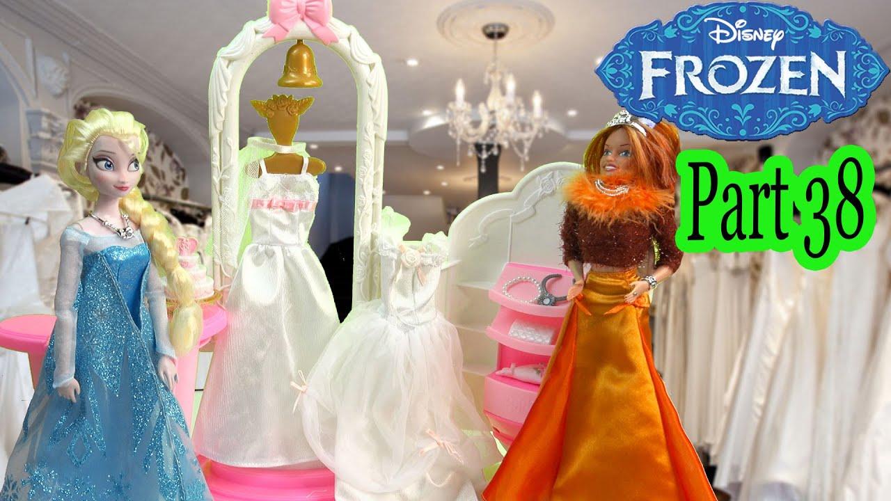 Queen Elsa Princess Anna Frozen Disney Wedding Dress Shop Barbie ...