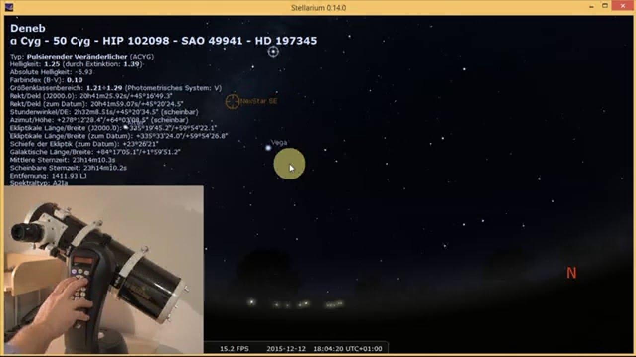 Stellarium Remote Control of a Celestron NexStar SE via Bluteooth