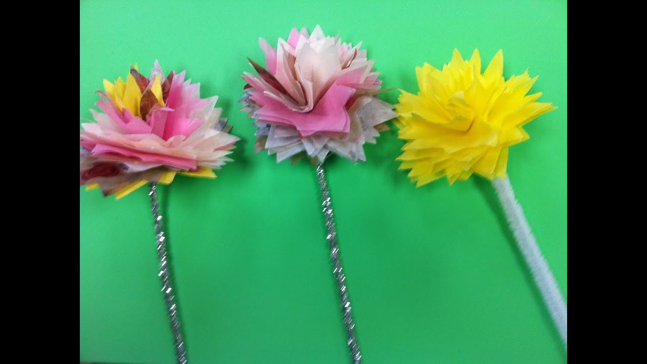 Diy tissue paper flowers diy napkin flowers youtube diy tissue paper flowers diy napkin flowers mightylinksfo