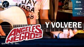 """Cómo tocar """"Y Volveré"""" de Los Ángeles Negros en guitarra (HD) Tutorial COMPLETO - Christianvib"""