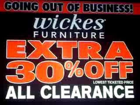 Wickes Furniture  Going Out Of Business    YouTube