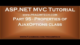 Part 95   OnBegin, OnComplete, OnSuccess and OnFailure properties of AjaxOptions class