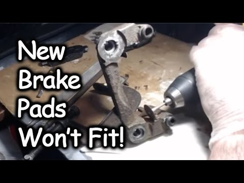New Brakepads Won't Fit In Caliper - DIY Fix! - YouTube
