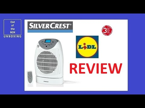 SilverCrest Fan Heater SHLF 2000 D1 REVIEW / TEST (Lidl 1000W 2000W 80 38)