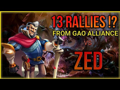 RALLY TRAP ZED Vs GAO FAMILY + TROOP COMP || Lords Mobile