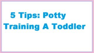 5 Tips to Potty Training a Toddler