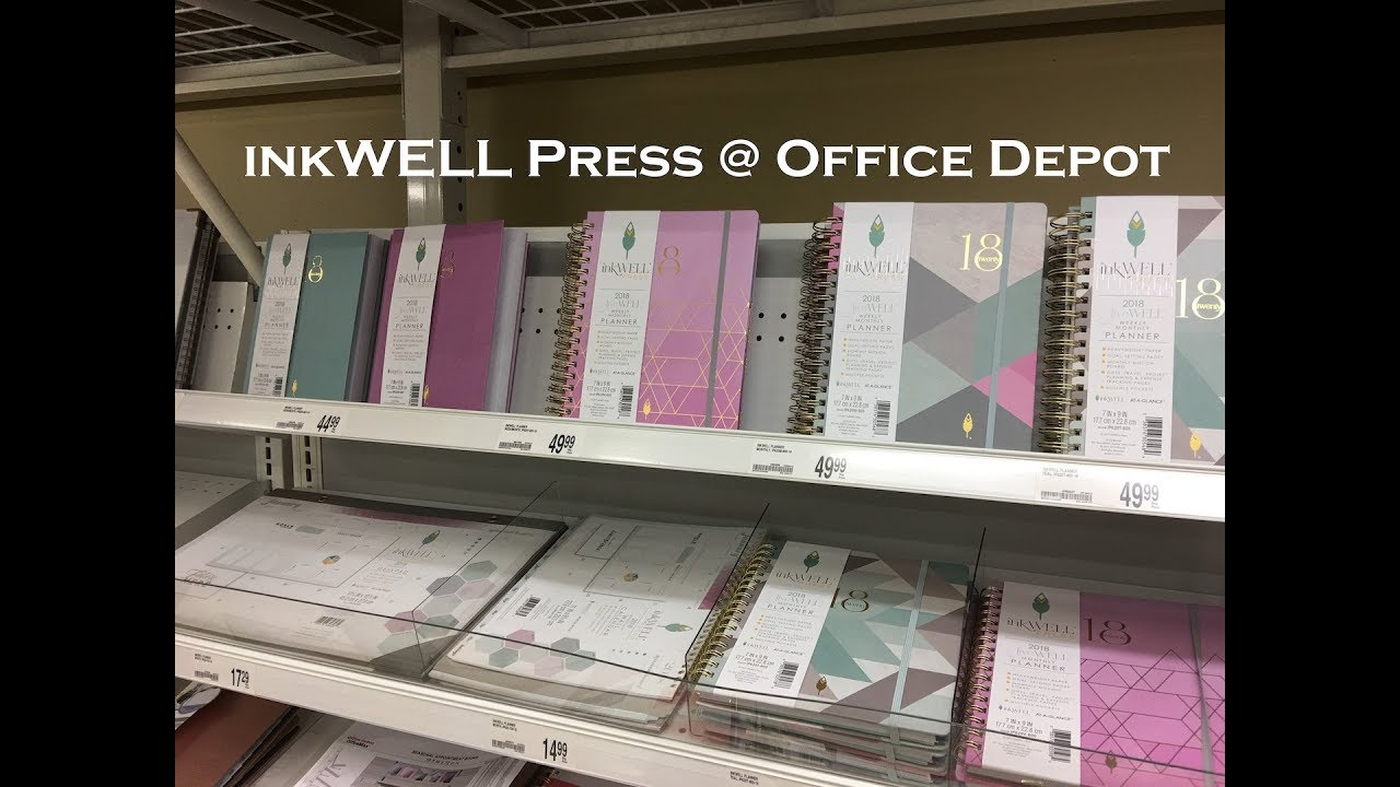 Inkwell Press Office Depot 2018 Planners Deskpad Wall