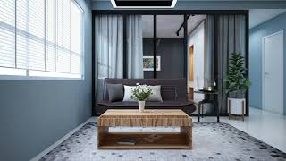Interior design apartment, apartment project CityHome. Modern style