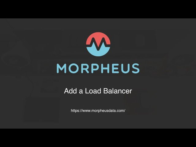 Adding a load balancer to a Tomcat cluster in Morpheus | Morpheus Minute