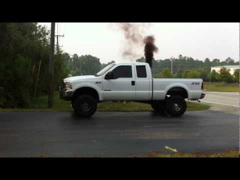 "1999 f250 powerstroke 7.3 38r turbo, stack 7"", smoke fast and loud!"