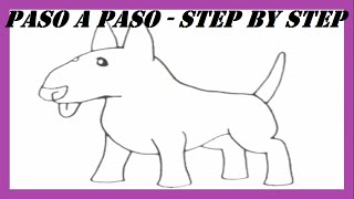 Como Dibujar Un Perro Bull Terrier Inglés L How To Draw A Dog English Bull Terrier