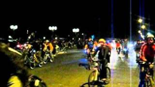 Protesta Ley Anti Ciclistas - Costanera, Santiago