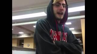 White guy singing indian song