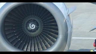 CFM56-3  Engine Start sound!! JAL / JTA  B737-400  Pushback and Taxi