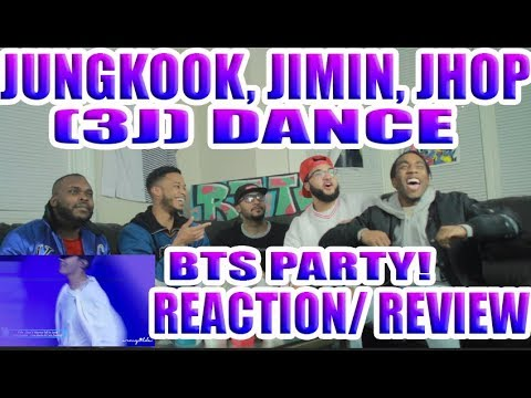 JUNGKOOK,JIMIN, J HOPE (3J) DANCE-BTS PARTY REACTION