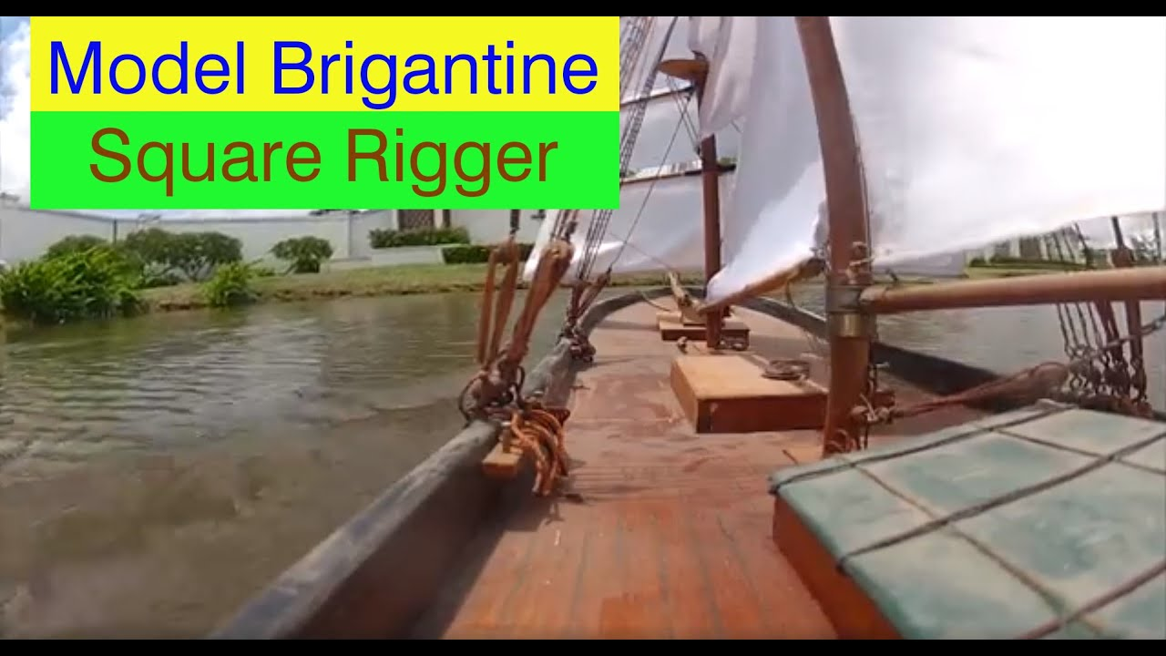 rc brigantine square rigged ship