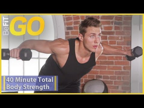 BeFiT GO: 40 Min Total Body Strength Workout- Circuit 1