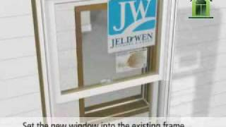 jeld wen wood clad wood replacement window installation how to