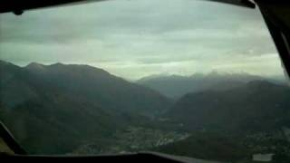 Lugano LSZA/LUG, circling approach and landing ATR 42