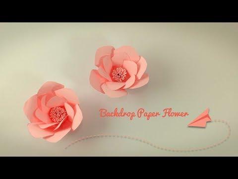 DIY Paper Flower Backdrop Tutorial | Making Paper FLower Step by Step thumbnail