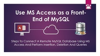 Use MS Access as a Front End of MySQL Database
