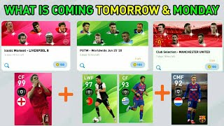 WHAT IS COMING ON TOMORROW & MONDAY || NEW POTW,ICONIC & CLUB SELECTION|| PES 20 MOBILE OR PC