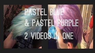 pastel blue/lavender hair transfo (2 vids in 1)